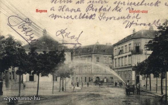 A Kossuth utca az Újteleki utca felé