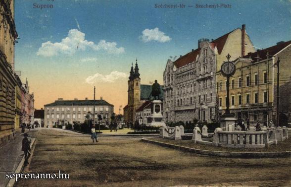 A Széchenyi tér a Petőfi tér felől