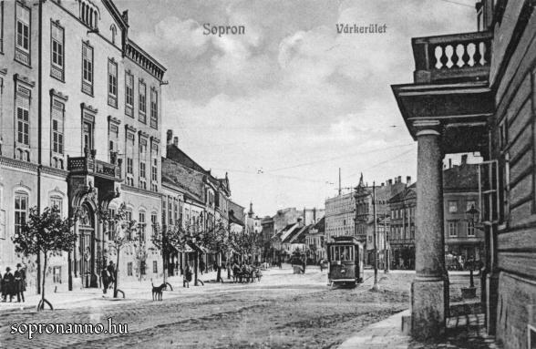 A Várkerület a Széchenyi tér felől