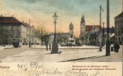 A Széchenyi tér a Petőfi tér felől az 1900-as évek elején