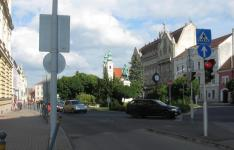 Széchenyi tér a Petőfi tér felől