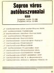Sopron város autóbuszvonalai 1974-ben