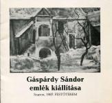 Gárpárdy Sándor emlékkiállítása, Sopron, 1987, Festőterem