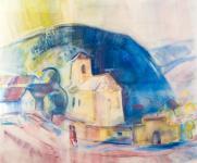 Rázó József - Öreg templom Tokajban