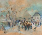 Wosinski Kázmér - Ünnepi felvonulás Bánfalván