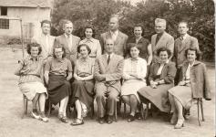 A bánfalvi tantestület az 1950-es évek végén
