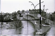 A Batsányi utcai felüljáró bontásának kezdetei