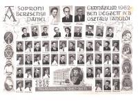 A Berzsenyi Dániel Gimnázium 1962-ben végzett IV.B. osztályának tablója