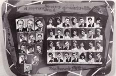 A Berzsenyi Dániel Gimnázium 1964-ban végzett IV.B. osztályának tablója