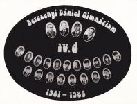A Berzsenyi Dániel Gimnázium 1985-ben végzett IV.D. osztályának tablója