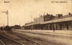 A Déli vasút állomása Sopronban