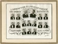 A Fáy András fiú felső kereskedelmi iskola tablója 1934/35