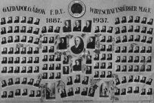 A Gazdapolgárok Férfi Dalegyletének jubileumi tablója
