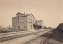 A Győri vasút állomása az 1880-as évek végén