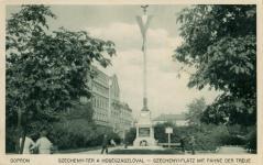 A Hűségzászló a Széchenyi téren
