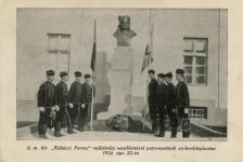 """A m.kir.""""Rákóczi Ferenc"""" reáliskolai nevelőintézet patrónusának szoborleleplezése"""