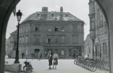 A Patikaház és a Storno-ház a Tűztorony felől