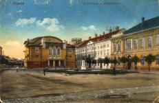 A Petőfi tér a színházzal