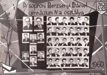 A soproni Berzsenyi Dániel Gimnázium IV.A osztályának tablója 1960-ból
