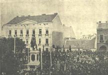 A Széchenyi szobor felavatása