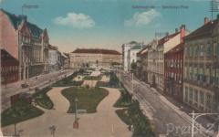 A Széchenyi tér a palota felől a 20. század elején