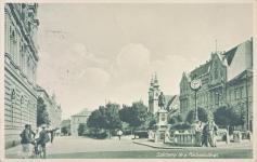A Széchenyi tér a Postapalotával