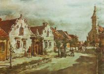 A Szent Mihály utca Sterbenz Károly festményén