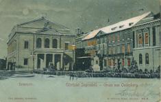 A Színház tér télen