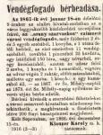 Hirdetmény az Arany szarvas bérbeadásáról 1867-ből