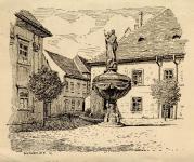 Autheried Hannibál Gizella képei Sopronról - A Mária-kút