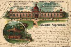 Az 1904-es Ipar- és Képzőművészeti kiállítás főcsarnoka és a zenepavilon