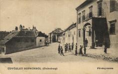 A Fövényverem az egykori Pejachevich-palotával