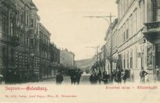 Az Erzsébet utca a Széchenyi tér felől az 1900-as évek elején