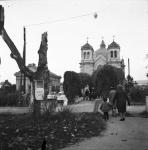 Az evangélikus temető előtt 1969-ben