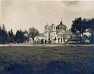 Az evangélikus temető ravatalozója az 1910-es években