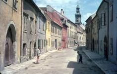 Az Új utca az Ó-zsinagóga feltárása előtt