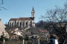 Bánfalvi látkép a kolostorral