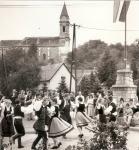 Búcsú Bánfalván 1991-ben