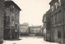 A Vasalóház helye a Fő tér felől