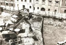 Földmunkák a Vasalóház építésekor