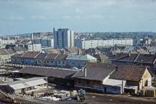 Kilátás a régi TÜZÉP-re és a lakótelepre
