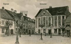 Kisvárkerületi utcakép az 1900-as évek első feléből