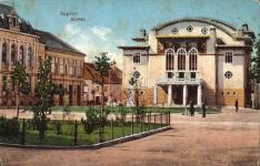A Petőfi tér korabeli képeslapon