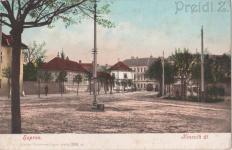 A Kossuth Lajos utca korabeli képeslapon