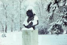 Liszt Ferenc szobra az Erzsébet-kertben