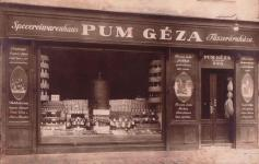 Pum Géza fűszeráruháza a Sas téren