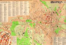 Sopron térképe 1958