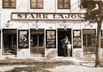 Stark Lajos üzlete a Várkerületen