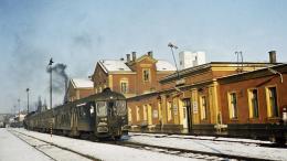 Téli pillanatkép a régi vasútállomásról