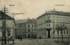 Újteleki utcai részlet a II.Rákóczi Ferenc u. 53. számú házzal